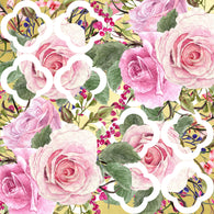 """Quarterfoil Vintage Roses""  Pattern Vinyl and Heat Transfer Vinyl"