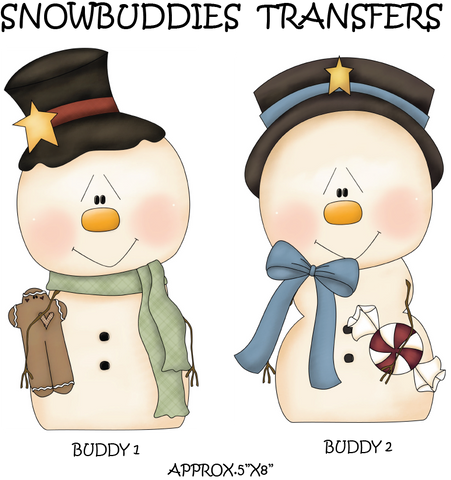 Snowbuddies 1&2 Set- Ready to Press Heat Transfers
