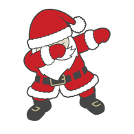 """Dabbing Santa 2""    - Ready to Press Heat Transfers"