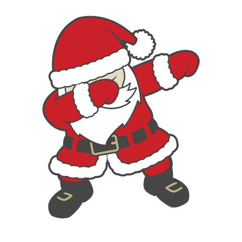 """Dabbing Santa 2""    - Ready to Press Vinyl and Sublimation Transfers"