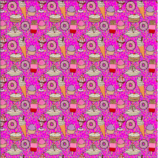 """Ice Cream Social"" Pink - Pattern Vinyl and Heat Transfer Vinyl"