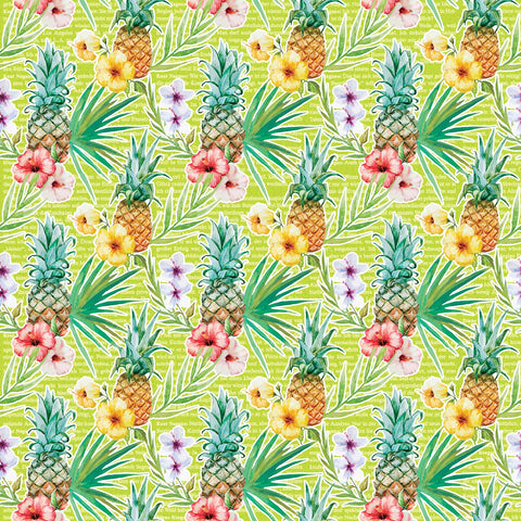 """Tropical Pineapple"" Permanent Vinyl and Heat Transfer Vinyl"