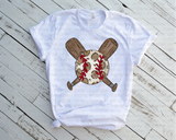 """BASEBALL"" hANDDRAWN BASEBALL -Ready to Press Heat Transfer/Sublimation Transfer"