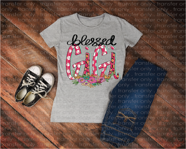 """Blessed Gigi""-Ready to Press Heat Transfer/Sublimation Transfer"