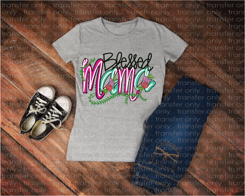 """Blessed Mama""-Ready to Press Heat Transfer/Sublimation Transfer"
