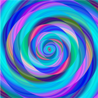 """Lollipop Blue Eyed Swirl""  Pattern Vinyl and Heat Transfer Vinyl"