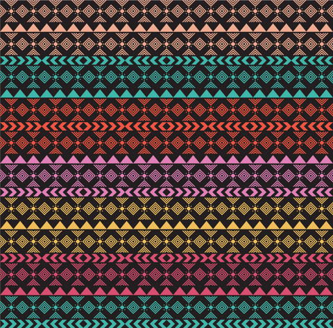 """Boho Squares"" - Pattern Vinyl and Heat Transfer Vinyl"