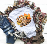 """Leopard Fall Truck""  -Ready to Press Heat Transfer/Sublimation Transfer"