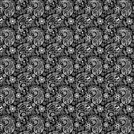"""Flower Paisley Black and White""  Pattern Vinyl and Heat Transfer Vinyl"