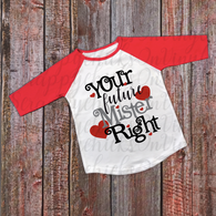 """Future Mister Right"" Valentines - Ready to Press Heat Transfer"
