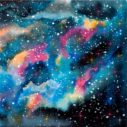 """Galaxy Storm"" - Pattern Vinyl and Heat Transfer Vinyl"