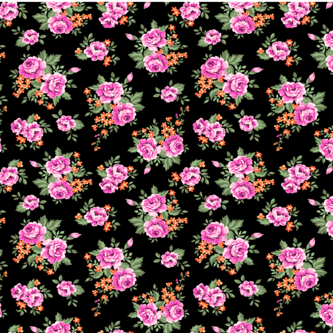 """Garden of Pink Roses"" Permanent Vinyl and Heat Transfer Vinyl"