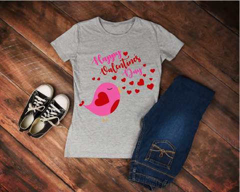 """Happy Valentines Day"" Valentines - Ready to Press Heat Transfer"