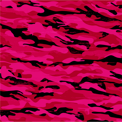 """Hot hot pink Camo"" Permanent Adhesive Vinyl OR Heat Transfer Vinyl"