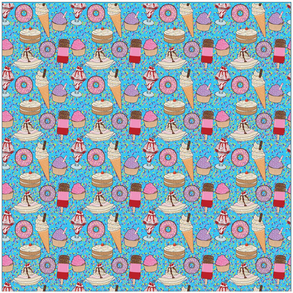 """Ice Cream Social"" Blue - Pattern Vinyl and Heat Transfer Vinyl"