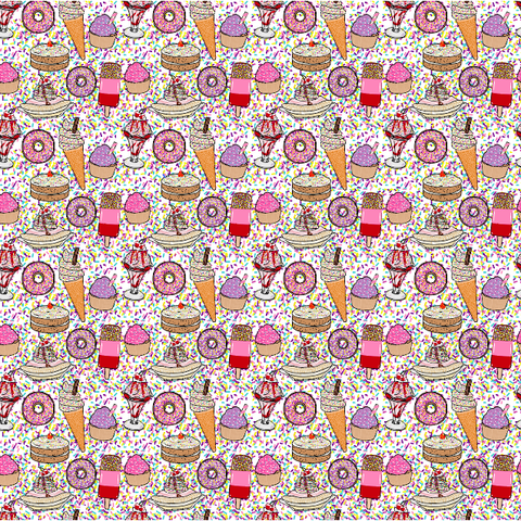 """Ice Cream Social"" - Pattern Vinyl and Heat Transfer Vinyl"