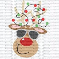 "Ready to Press Heat Transfers-- ""Mr. Cool Reindeer"""