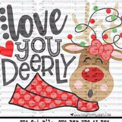 "Ready to Press Heat Transfers-- ""Love You Deerly"""