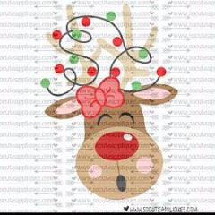 "Ready to Press Heat Transfers-- ""Girly Reindeer"""