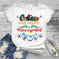 "Autism Shirts, Autism Awareness SVG, Autism Speaks , T-Shirt Transfer,""WHERE direction"" Autism Ready to Press  Printed Transfer"