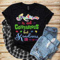 "Autism Shirts, Autism Awareness SVG, Autism Iron On , T-Shirt Transfer,""Autism is Not Contagious Colorful"" Autism Speaks PrintedTransfer"