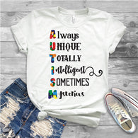 "Autism Shirts, Autism Awareness SVG, Autism Speaks , T-Shirt Transfer,""Always Unique"" Austism Speaks Printed Transfer"