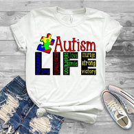 "Autism Shirts, Autism Awareness SVG, Autism Speaks , T-Shirt Transfer,""Autism Life"" Austism Ready to Press  Printed Transfer"