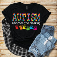 "Autism Sublimation transfers, Autism HTV transfers, Autism Awareness, Autism design, Autism Speaks , T-Shirt Transfer,""Embrace the Amazing w"