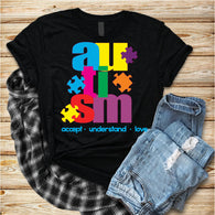 "Autism Shirts, Be Kind, Autism Awareness SVG, Autism Speaks , T-Shirt Transfer,""Autism Block""  PrintedTransfer"
