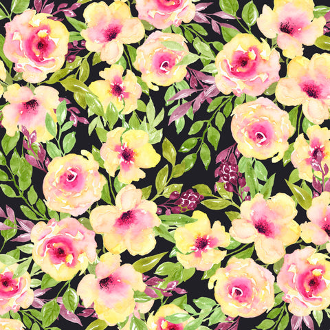 "Adhesive Vinyl, Heat Transfer Vinyl, Pattern Vinyl, Printed Vinyl, HTV, Iron on Vinyl, Vinyl Sheets,  Vinyl sheet, ""Fancy Floral 4"""