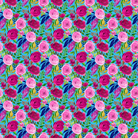 "Adhesive Vinyl, Heat Transfer Vinyl, Pattern Vinyl, Printed Vinyl, HTV, Iron on Vinyl, Vinyl Sheets, 12x12 Vinyl sheet, ""Floating Roses"""