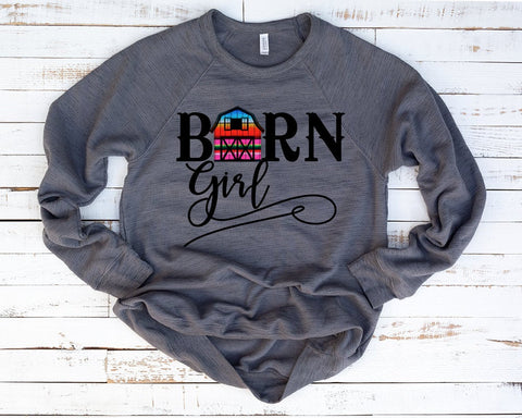 "Barn Girl Sublimation, Barn Girl Transfer, Cowgirl Transfer, Country Girl Sublimation, ""Barn Girl"" Vinyl Iron On Transfer, Sublimation"