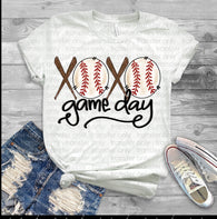 "Baseball Sublimation Transfers, Baseball shirt transfer, Game day tshirt design, Sublimation transfers, HTV transfers, ""Gameday"" transfer"