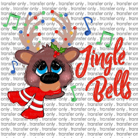 Instant Download PNG Printable design, Jingle Bells PNG, Reindeer Sublimation design , Rudolph Sublimation designs, Christmas designs