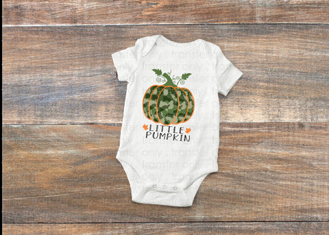 "INSTANT DOWNLOAD PNG, ""Little Pumpkin"" , Camo Sublimation design , Siblings Fall designs  , Fall Sublimation designs,Camo Pumpkin png"