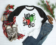 "Christmas Sublimation transfer, Christmas Vinyl Transfer , ""Let's Get Lit"" Christmas Heat Transfers, Heat transfer"