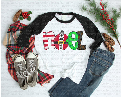 "Christmas Sublimation transfer, Christmas Vinyl Transfer , ""Noel "" Printed Heat Transfer/Sublimation, Holiday Vinyl Transfer or Sublimation"