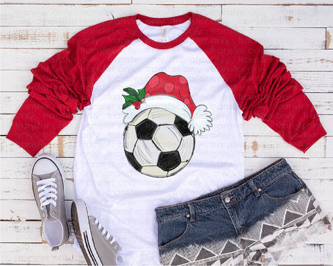 "Christmas Soccer Sublimation transfer, Holiday Screen Print Transfer , ""Christmas Soccer "" Heat Transfer/Sublimation, Ready to Press"