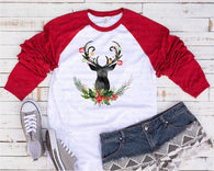 "Christmas Deer Sublimation transfer, Reindeer Transfer , ""Christmas Deer"" Heat Transfer/Sublimation, Ready to Press Transfer,  Black Friday"