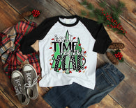 "Christmas Tree Sublimation Transfer, Ready to Press Shirt Transfer,  ""Favorite Time of Year Transfer"" Christmas Tree Vinyl Transfer"