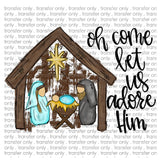 "Christmas screen print, Sublimation,  Mary Sublimation, Jesus Ready to Press Transfer,  ""Away in a Manger"" Printed Transfer, Heat Transfer"
