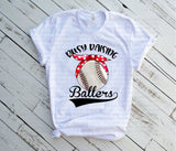 "Baseball Sublimation, Press On Sublimation. ""Raising Ballers Baseball""   Sublimation Transfer, Baseball Mom, T Ball"