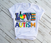 "Autism Sublimation Transfer, Autism Awareness Designs,  Sublimation Transfer,, ""Love Autism"" ready to press transfer, Autism Awareness"
