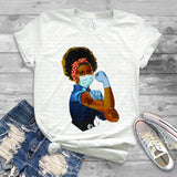 "CNA  Rosie  Iron on transfer, CNA  transfer, ""CNA Tattoo"" Hospital Iron On Printed Shirt Transfer, Essential Worker, African American"