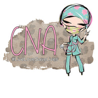 "CNA, Nurse Assistant, Essesntial Workers, sticker, decal, Cup decal,  Worker decals, Laptop Decals, Essential Worker, Car Decals , ""CNA"""