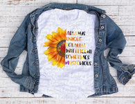"""Autism Sunflower""-Ready to Press Heat Transfer"