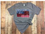 """All American Mama""-Ready to Press Heat Transfer/Sublimation Transfer"