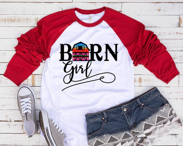 """Barn Girl""- Ready to Press Heat Transfer"