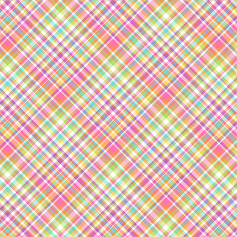 """Taffy Plaid"" Pattern Vinyl and Heat Transfer Vinyl"