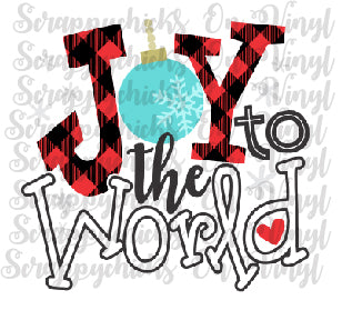 """Joy to the World"" - Ready to Press Heat Transfers"